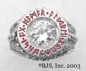 BADALI-Hobbit-Dwarven-Ring-Of-Power-Silver-Zirconia-LOTR-Tolkien-IN-STOCK