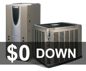 Furnace - Air Conditioner - Rent to Own .- $0 down >>>>>>>
