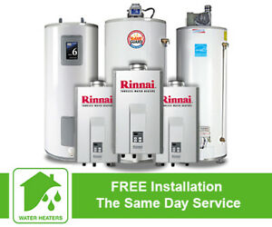 Worry-Free Rental Hot Water Heater.- Free Installation - $0 Down