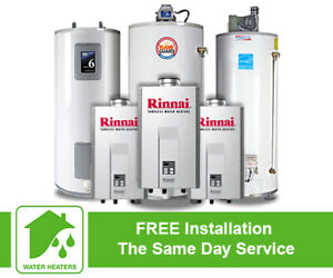 Rental Hot Water Tank - Free Installation - Call Now - Same Day