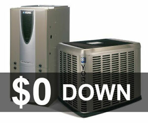 $0 Down - Central Air Conditioner - Furnace - Rent to Own
