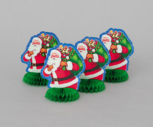 4-x-NIGHT-BEFORE-CHRISTMAS-6-Mini-Honeycomb-Christmas-Party-Decorations-santa