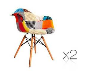 AUS FREE DEL-2x Replica Eames Home Cafe Chairs Armchairs - Fabric Sydney City Inner Sydney Preview