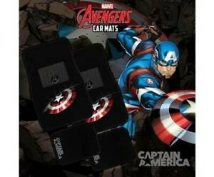 Marvel Avengers CAPTAIN AMERICA 4-Piece Car Mat Vehicle Free Shipping Mount Isa Mt Isa City Preview