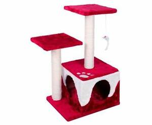 Cat Scratching Poles Post Furniture Tree House Red Sydney City Inner Sydney Preview