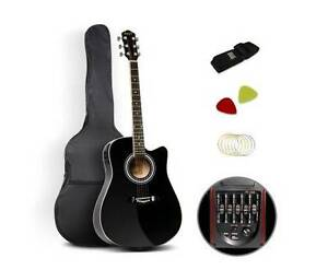 """AUS FREE DEL-41"""" 5- Band EQ Electric Acoustic Music Guitar Black Sydney City Inner Sydney Preview"""