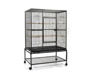 140cm Large Bird Cage Parrot Budgie Aviary With Stand
