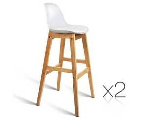 AUS FREE DEL-2x Deluxe PP High Back Seat Cafe Bar Stools - White Sydney City Inner Sydney Preview