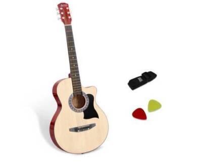 "AUS FREE DEL-38"" Wooden Auditorium Acoustic Music Guitar Natural"