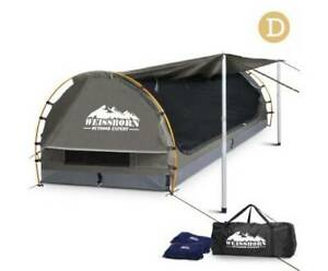 FREE MEL DEL-Double Size Camping Swag Grey w/ 2 Pilows, Mattress