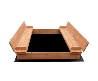 Awesome Children Square Sand Pit 95cm - chairs convert to a cover