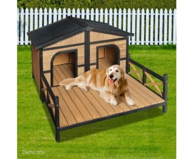 Large Double Pet Dog Kennel - Black Perth Perth City Area Preview
