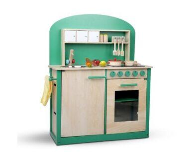 Wooden play set for children - green set