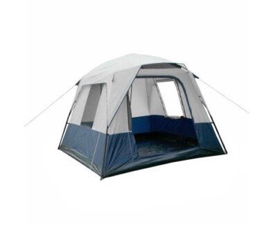 4 Person Family Camping Tent Navy Grey - free delivery