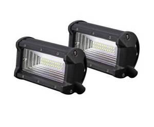 "FREE MEL DEL-2x 5"" 72W CREE LED Light Bar Flood Beam Offroad 4WD"