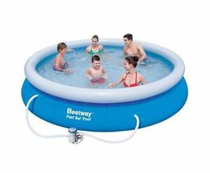 Bestway Above Ground Fast Set Swimming Pool Blue Adelaide CBD Adelaide City Preview