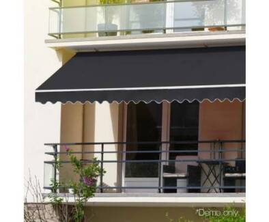 3 x 2.5m Folding Arm Awning - Grey - Brand New - Free Delivery
