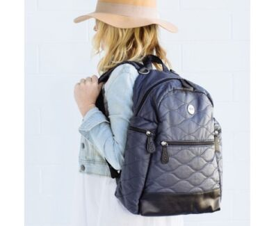 Oioi Indigo Cotton Quilt Backpack Nappy Bag - free delivery