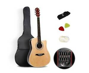 """AUS FREE DEL-41"""" 5- Band EQ Electric Acoustic Guitar - Natural Sydney City Inner Sydney Preview"""