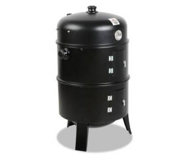 AUS FREE DEL-Portable Heavy Duty Steel 3-in-1 Charcoal BBQ Smoker