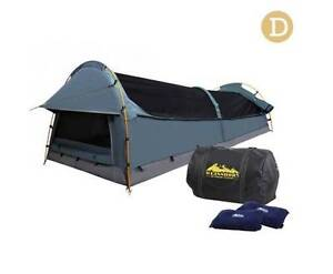 Double Canvas Camping Swag Tent Navy w/ Air Pillow delivered free Adelaide CBD Adelaide City Preview