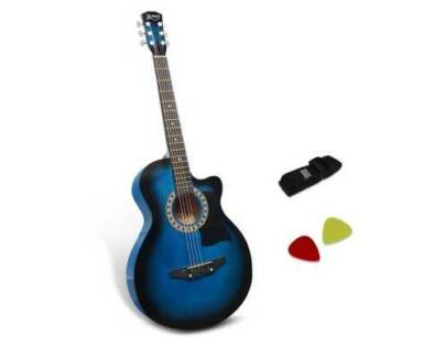 "AUS FREE DEL-38"" Wooden Auditorium Acoustic Music Guitar - Blue"