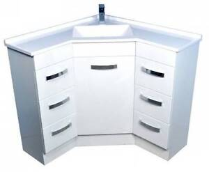 900 x 900 Corner Vanity Unit - Several Models Available Paradise Campbelltown Area Preview