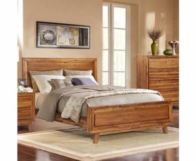 Timber Queen Size Bed - Brand New - Free Delivery - ON SALE NOW