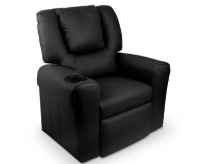 luxury sofa recliner chair lounge padded pu leather armchair