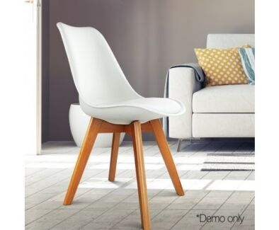 Brand New Eames Inspired PU Leather Seat Dining Chairs