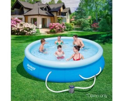 BRAND NEW! Bestway Above Ground Fast Set Swimming Pool Blue