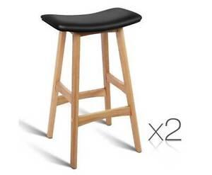 AUS FREE DEL-2x 70cm High PP Shell Seat Kitchen Bar Stools Black Sydney City Inner Sydney Preview