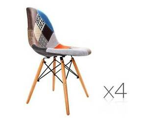 AUS FREE DEL-4x Replica Eames Dining Chair with Fabric Covering Sydney City Inner Sydney Preview