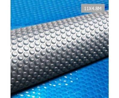 AUS FREE DEL-11x4.8M Durable Solar Swimming Pool Cover Blue Grey