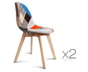 AUS FREE DEL-2x Replica Eames ABS Seat Dining Chairs Fabric Sydney City Inner Sydney Preview