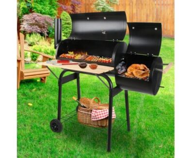 2-in-1 Offset BBQ Smoker - free delivery