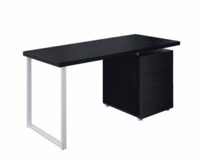 Brand New Black or White Computer Desk with 3 Big Drawers