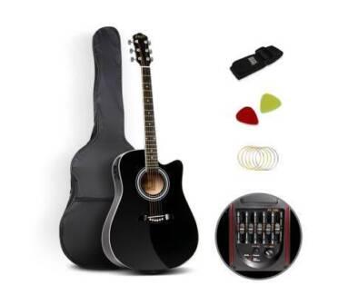 "AUS FREE DEL-41"" 5- Band EQ Electric Acoustic Music Guitar Black"