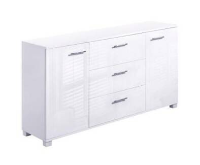 Great High Gloss Sideboard Storage Cabinet Cupboard White Delivered Part 27