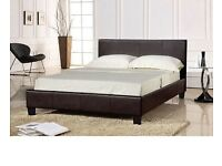 Double leather parado bed with super ortho mattress