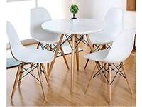 Eames style table and 4 chairs