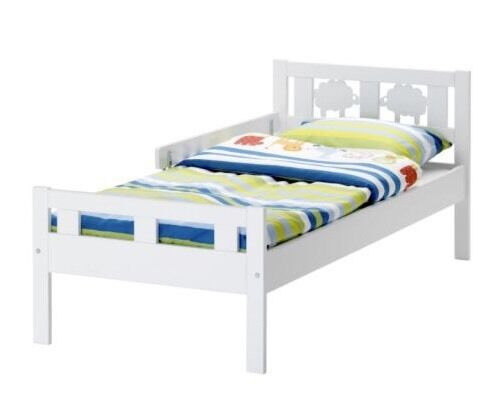 Ikea Sheep White Toddler Bed Frame Slats And Mattress Bed