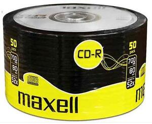 50 x MAXELL BLANK DISCS CD-R RECORDABLE CD CDR