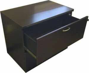 2 Drawer Lateral File, Black Wood Texture finish, 36''W
