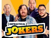 2 x Impractical Jokers UK Tour Tickets Notingham Motorpoint 11 Oct Ternderloings Comedy Floor Seated