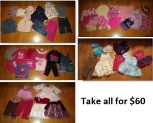 12-18 Mths Baby Girl Clothing Lot 1 (Take 49 Pieces for $60)