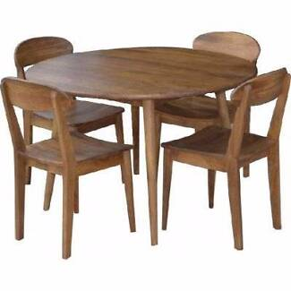 Hardwood Timber Quot Retro Quot Round Dining Table Chairs