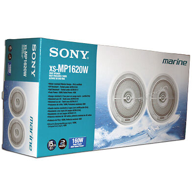 "Sony XS-MP1620W 6.5"" Boat/Marine Speaker System Pair 6 1/2 Inch Speakers White on Rummage"