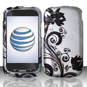 For-ZTE-Merit-Z990g-990g-Rubberized-HARD-Case-Snap-on-Phone-Cover-Black-Vines