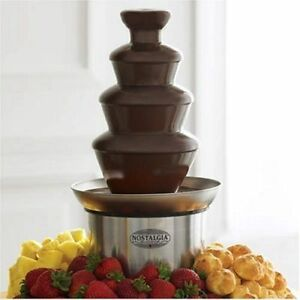 Durable-Multipurpose-Plastic-Tower-Stainless-Steel-Easy-Chocolate-Party-Fountain
